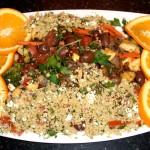 Mediterranean Vegetable Couscous with Capers and Olives