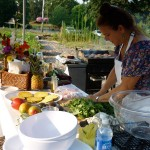 Cooking Demo in the garden