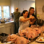 Preparing Thanksgiving Turkeys