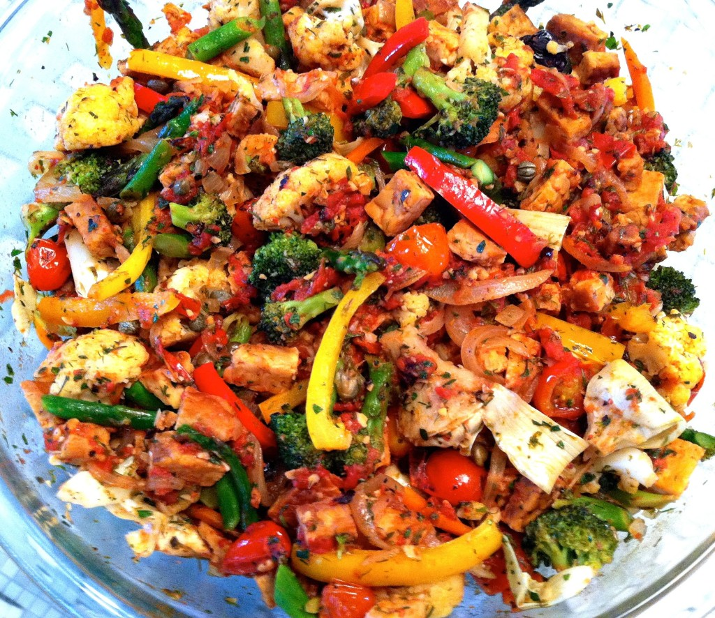 Recipe Mediterranean Tempeh With Vegetables Ieatgreen