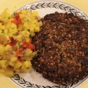 Image for Recipe: Black Bean and Rice Croquettes with Mango Salsa
