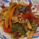 Image for Recipe: Tempeh Portobello Pepper Steak