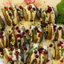 Image for Recipe: Stuffed Eggplant Rolls with Tomato Corn Crema