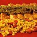 Image for Recipe: Corn Encrusted Tofu with Salsa Verde