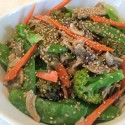 Image for Recipe: Japanese Stir-Fry Vegetables with Rice Noodles in Sesame Sauce