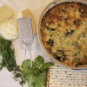 Image for Recipe: Matzo Strada with Spinach and Gruyere Cheese