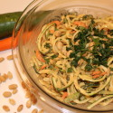 Image for Recipe: Raw Zucchini Noodles with Peanut Sauce