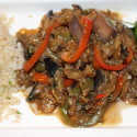 Image for Recipe: Spicy Eggplant and Seitan in Garlic Ginger Sauce