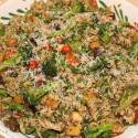 Image for Recipe: Pasta Primavera ala Pesto with Sundried Tomatoes and Tofu