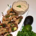 Image for Recipe: Black Bean and Avocado Pinwheels  with Lime-Cilantro Cashew Creme