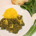 Image for Recipe: Marinated Tofu with Indian Saag