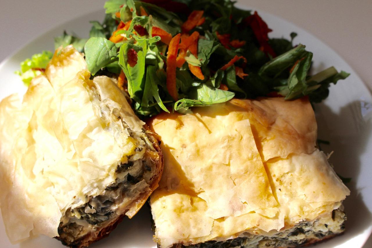 Recipe: Kale and Swiss Chard Cheese Pie | iEatGreen