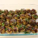 Image for Tofu Meatballs with Soy Sesame Drizzle, Gluten-free and Vegan