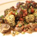 Image for Tofu Meatballs with Moroccan Tapenade, Gluten-free and Vegan