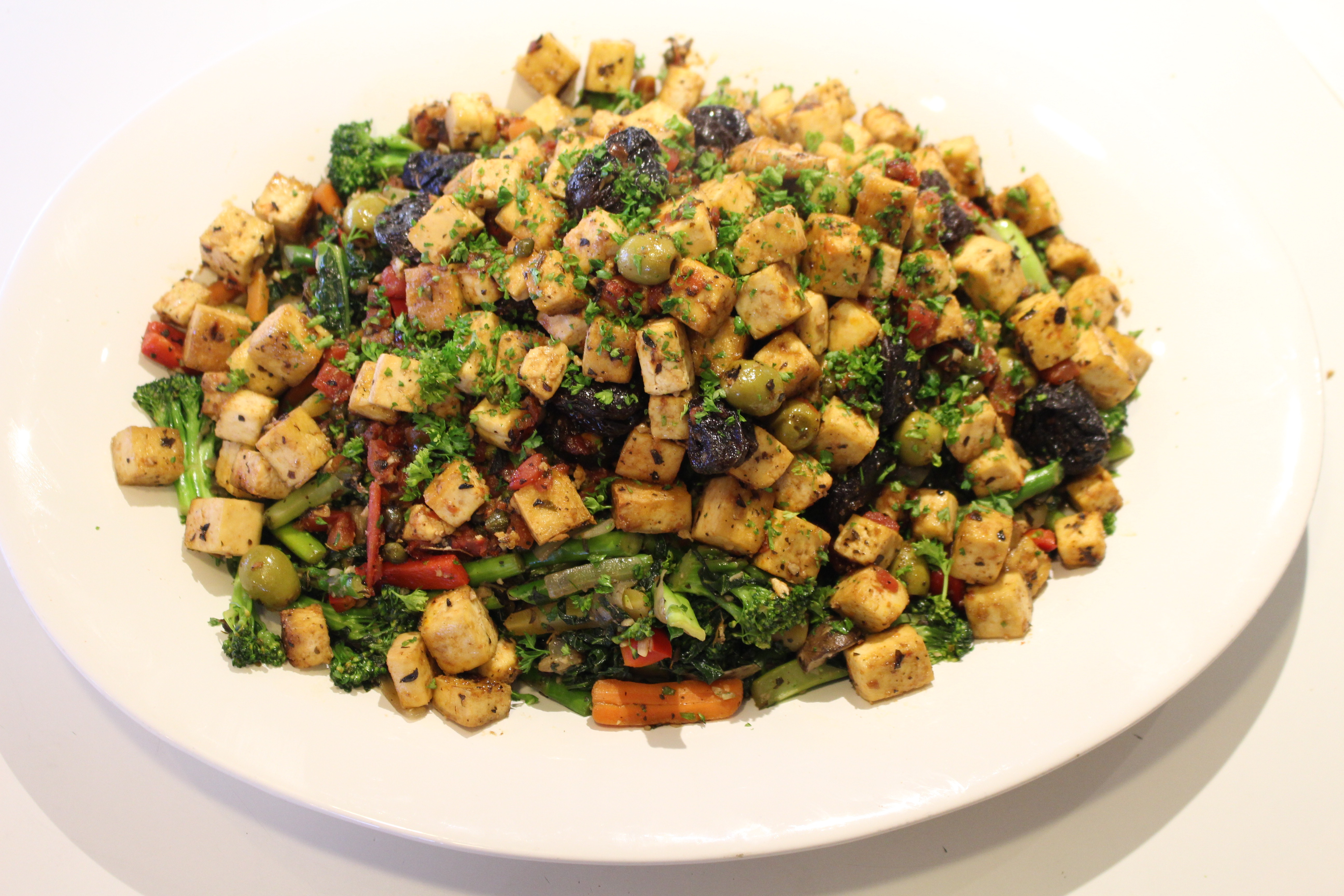 Tofu Vegetable Marbella | iEatGreen