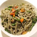 Image for Linguine with Pepper Cress Pesto, Broccoli, and Cherry Tomatoes