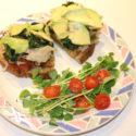 Image for Open-Faced Cajun Tofu with Sauerkraut